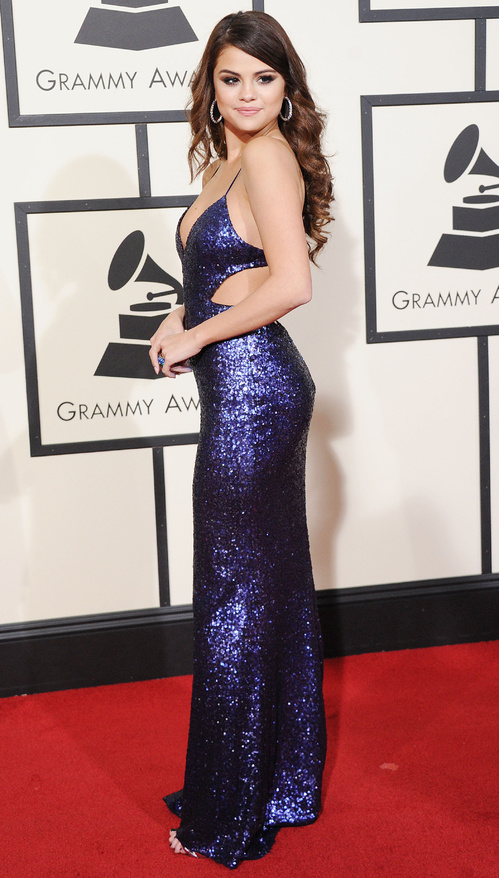 Selena Gomez in Calvin Klein Collection at the Grammy Awards 2016